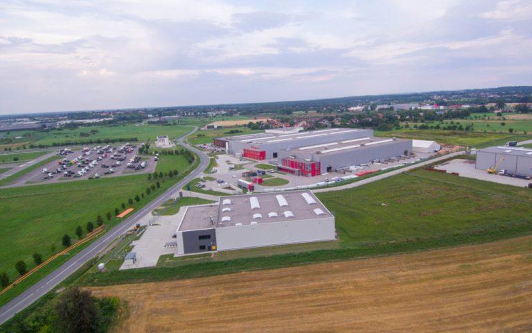 Hala produkcyjna w Podłężu